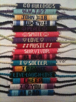 inspirational and school spirit bracelets