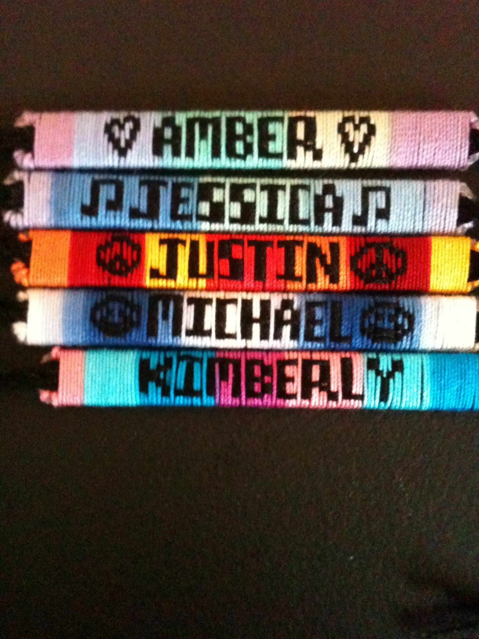 Name Bracelets Custom Made Friendship